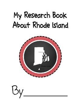 Rhode Island Student Research Book