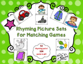 Rhyming Picture Sets for Go Fish or Matching Games