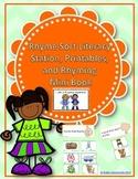 Rhyme Sort Literacy Station, Printables, and Rhyming Mini Book