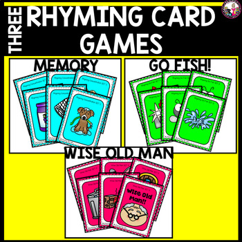 Rhyme Time!! Card Games for Individual or Small Group!