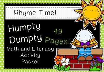 Rhyme Time - Humpty Dumpty - Nursery Rhyme Math and Litera