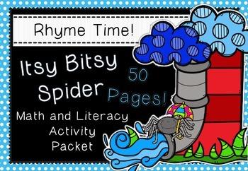 Rhyme Time - Itsy Bitsy Spider - Nursery Rhyme Math and Li