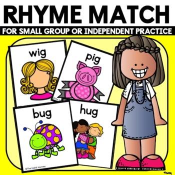 Rhyming Activities Worksheets -48 rhyming cards