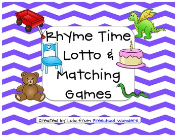 Rhyme Time Lotto Game