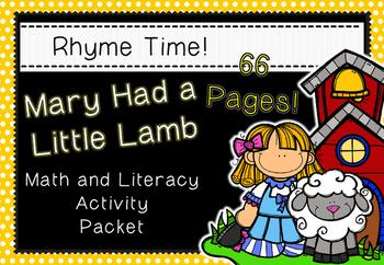 Rhyme Time - Mary Had a Little Lamb - Nursery Rhyme Math a