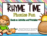 Rhyme Time -Phonics Fun {Differentiated & Aligned with Com