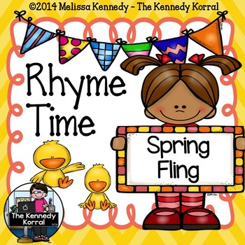 Rhyme Time Word Work {Anchor Charts, Center, Word Cards an