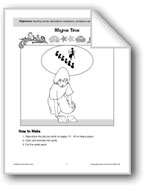 Rhyme Time (rhyming words/descriptive vocabulary)
