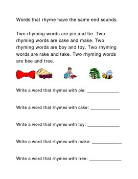Rhymes Following Directions Emergent Reader Printable Crit