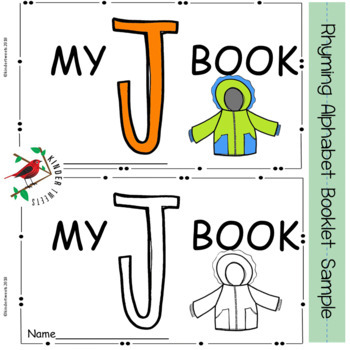 Alphabet Letter J Book in Rhyme for Emergent Readers