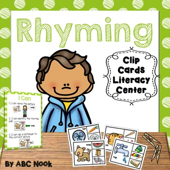 Rhyming - Clip Cards Literacy Center