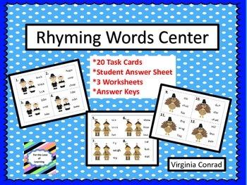 Rhyming Center--Thanksgiving Graphics