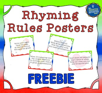Class Rules Posters FREE