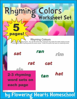 Rhyming Colours Match
