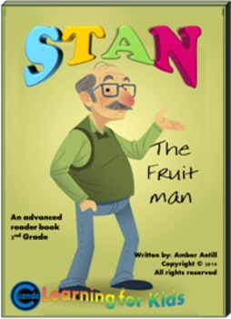 Rhyming Ebook Stan the Fruit Man with book report and tall