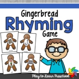Rhyming Gingerbread Game