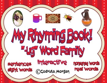 "Rhyming Interactive Book - ""-ug"" Word Family. CCS Aligned"