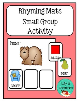 Rhyming Mats ~ Small Group Activity