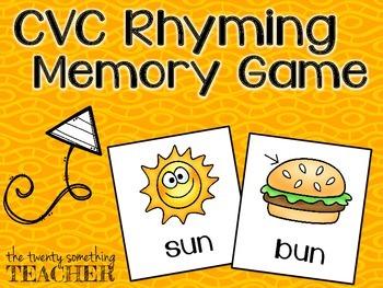 Rhyming Memory Game