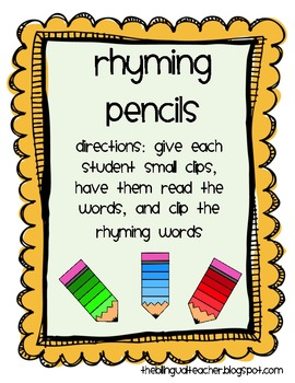 Rhyming Pencils