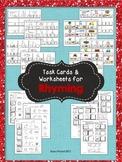 Rhyming - Phonological Awareness Task Cards & Worksheets f