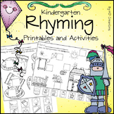 Rhyming in Kindergarten  * Printables and Center Activities