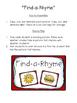 Rhyming-Printables and Games Freebie!