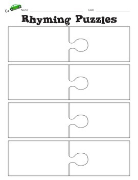 Rhyming Puzzle Graphic Organizer
