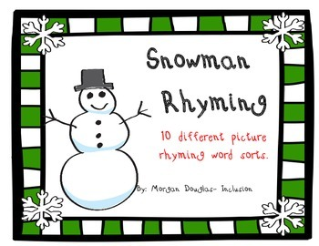 Rhyming Snowman Game
