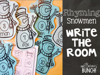 Rhyming Snowmen Write the Room