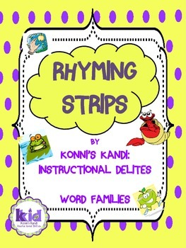 Rhyming Strips  Word Families