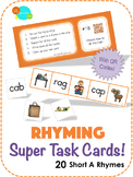 Rhyming Super Task Cards! - Short A