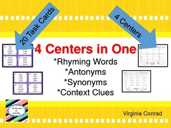 Rhyming, Synonyms, Antonyms and Context Clues
