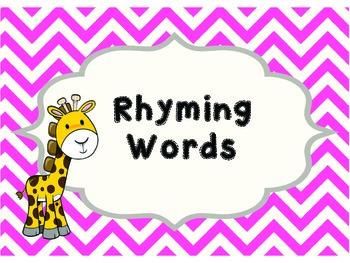 Rhyming Word Clip Cards