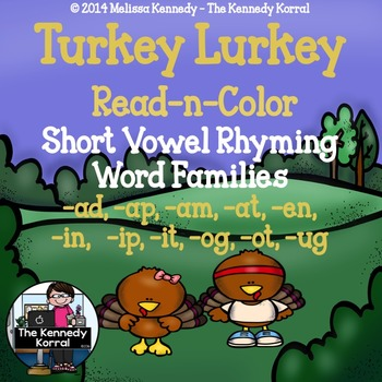 Short Vowel Word Family Rhyme Time