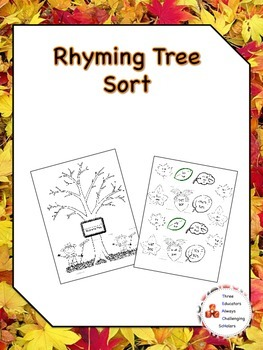 Rhyming Word Tree Sort