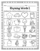 Rhyming Words - Matching Pictures