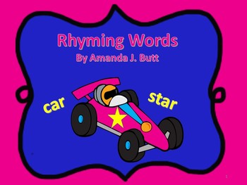Rhyming Words Activities - Kindergarten; First Grade; Spec