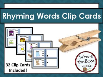 Rhyming Words Clip Cards Task Cards