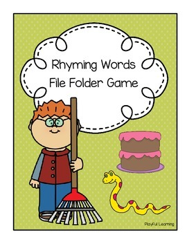 Rhyming Words File Folder Game
