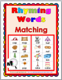 Rhyming Words Matching Set 1 - Rhyming Activities