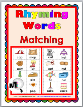 Rhyming Words Matching Set 1 - Rhyming Activities