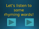 Rhyming Words Review