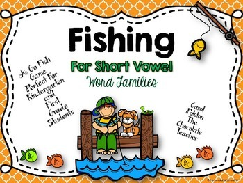 Rhyming Words With Short Vowels Go Fish Game