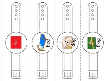 Rhyming Words Wrist Watches for Poetry
