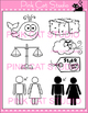 Rhyming Words: -ale Rime Word Family Clip Art Set - Person