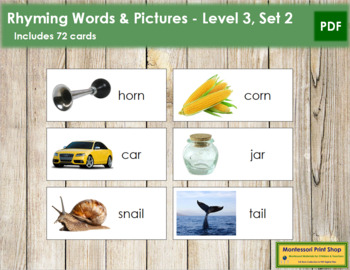 Rhyming Words and Pictures - Level 3, Set 2