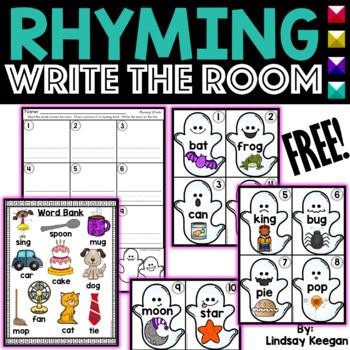 Rhyming Write the Room FREEBIE!