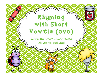Rhyming Write the Room {short vowel cvc}