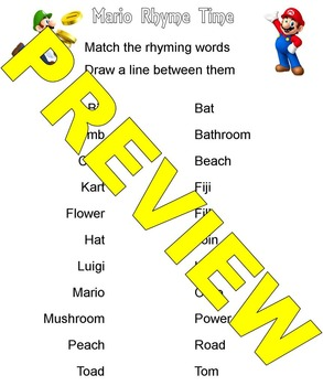 Rhyming with Super Mario